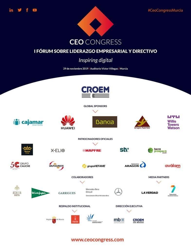 20 empresas y marcas apoyan CEO Congress Murcia